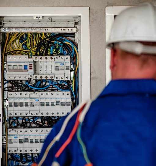 Electrician working in a residential job in Miami Florida